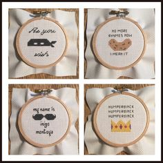 Princess Bride cross stitch ornaments