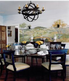 Wall Mural Painting Decorative Traditional Dining Room