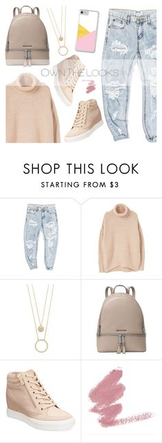 """""""OOTD - Dusty Pink"""" by by-jwp ❤ liked on Polyvore featuring OneTeaspoon, MANGO, Kate Spade, MICHAEL Michael Kors and ALDO"""