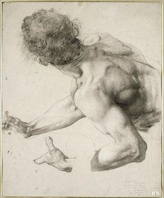 Paul Baudry (French)Study for the Le Supplice d'une VestaleBlack chalk on paper1828-1886