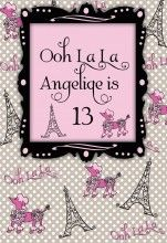 Pink Poodle Parisian Personalized Poster