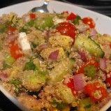 Quinoa salad with feta and avocado from Hungry Healthy Happy