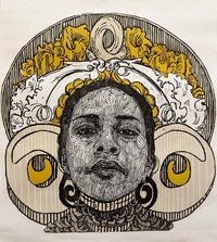 Irving Herrera says he loves portraits, which is reflected in his series of prints featuring portraits of the indigenous women of Oaxaca, Mexico, where he's from. Trinidad, Linocut Prints, Art Prints, Lino Art, Mexican Art, Illustrator Tutorials, Illustrations, Wood Print, Printmaking