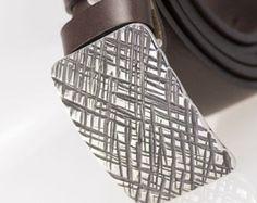 Correa de cuero con hebilla de acero inoxidable forjado a mano, regalo para hombre, regalo para él, cinturón negro, cinturón marrón, regalo para el esposo - Cruz 3 X