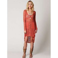 FP Beach Crochet Love Long Sleeve Cardi at Free People Clothing Boutique