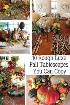 Fall Tablescape Ideas You Can Copy-Rough Luxe Lifestyle