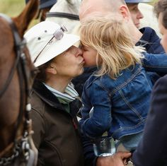 Mia gave a sweet kiss to granny,  2016