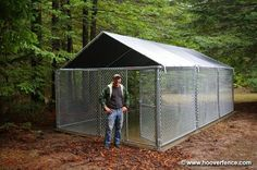 Outdoor Dog Kennels | Custom Modular Kennels Installation Photos - Hoover Fence Co ...