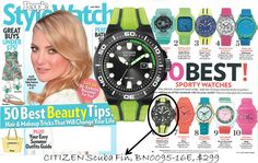 Green Citizen Scuba Fin watch is a must have for this summer's outdoor activities showcased in the May issue of People Style Watch