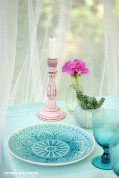 Karibische Tischdekoration Caribbeand Table Decoration
