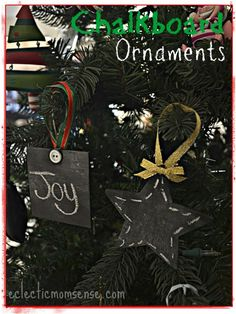 Chalkboard Ornaments: Frugal Handmade Ornament for only $.30 - Eclectic Momsense