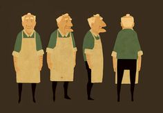 Dan Burgess | Character Design. I love this for some reason