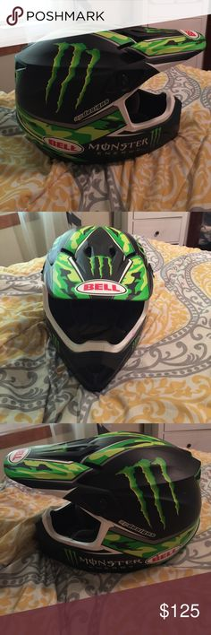 Bell Monster edition XL helmet Bell Racings Monster edition dirtbike helmet. Size XL. Pro circuit series. Manufactured in 11/2016. Purchased brand new from Cycle Gear for $299. Worn maybe a 5x. Other