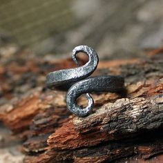 FORGED IRON VIKINGS STYLE INFINITY SYMBOL AMULET NORDIC RING ANY SIZE someone please get me this!!