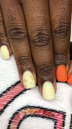 Manicure And Pedicure, Gel Nails, Acrylic Nails, Dark Skin Nail Color, Yellow Nails, Winter Nails, Pretty Nails, Nail Ideas, Nail Colors