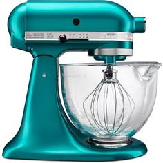 KitchenAid KSM155GB 10 Speed 5 Qt. Stand Mixer with Glass Bowl and Burnished Fla Sea Glass Small Appliances Mixers Stand Mixers