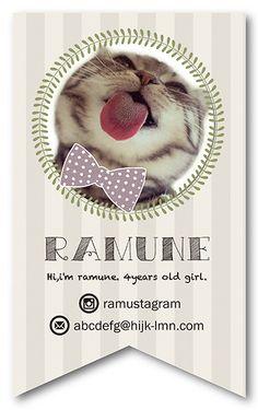 ペット名刺 型抜き名刺 猫デザイン 縦型001オーダーメイド 猫グッズ (1個30枚入)【楽天市場】