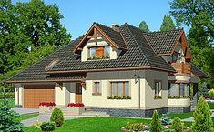 Projekt domu jednorodzinnego HG-I5 (DZ32)   wybieramprojekt.pl Home Fashion, Villas, Cabin, House Styles, Home Decor, Decoration Home, Room Decor, Cabins, Villa