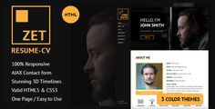 Download Free              ZET - One Page Resume/Personal Portfolio HTML Template            #               clean #creative #modern #one page template #personal #portfolio #portfolio onepage #responsive #svg