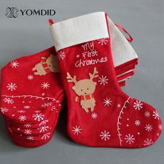 deer christmas stocking decoracion navidad enfeite de natal christmas decorations for home gift