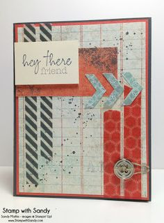 Stamp With Sandy: Hey There Friend Paper Pumpkin Welcome Kit, Gorgeous Grunge, RS80, masculine card