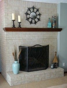 Brick Fireplace Paint - I Never Expected These Results
