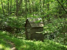 The old outhouse!  Grew up using one of these when I was a kid...memories! (o: