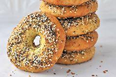 Low-carb keto everything bagels