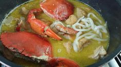 Crab Bee Hoon (Recipe) Lobsters, Crabs, Crab And Lobster, Scallops, My Recipes, Bee, Seared Scallops, Honey Bees, Hummer