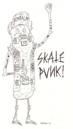 Skate Punk Illustration (looking like Servietsky)