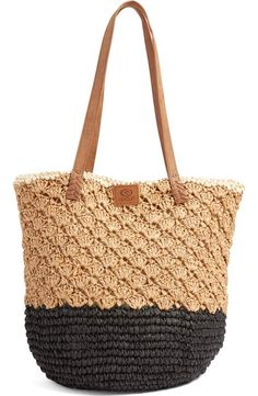 Designer Clothes, Shoes & Bags for Women Rip Curl, Tote Backpack, Tote Bag, Nordstrom Bags, Straw Handbags, Tote Handbags, Straw Tote, Crochet Purses, Summer Bags