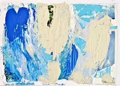 "Saatchi Art Artist Geoffrey Howard; Painting, ""Warm Blue: Abstract Map 04082015"" #art"