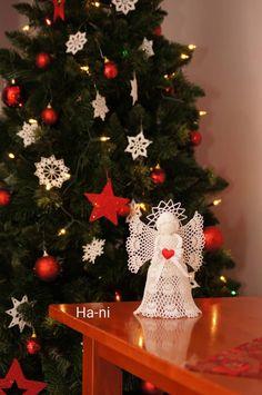 Crochet Angel Pattern, Christmas Tree, Holiday Decor, Home Decor, Lights, Ganchillo, Homemade Home Decor, Xmas Tree, Xmas Trees
