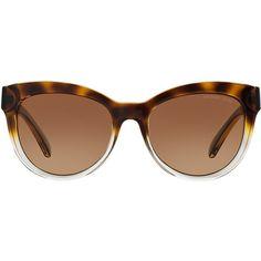 9f0214195d4d Michael Kors Mk6035 53 Mitzi I Tortoise Square Sunglasses ($119) ❤ liked on  Polyvore