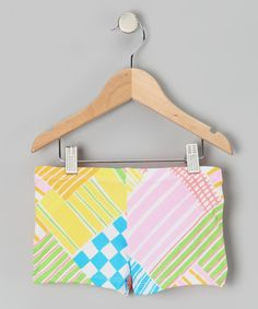 Take a look at this Lexu-Luu Peach & Blue Patchwork Shorts - Toddler & Girls by Lexi-Luu Designs on #zulily today!