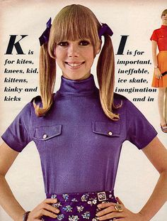 Seventeen editorial shot by Phillip Leonian 1967 Vintage Outfits, Vintage Fashion, Vintage Clothing, Sixties Fashion, Women's Fashion, Seventeen Magazine, Page Boy, Teen Models, Vintage Magazines