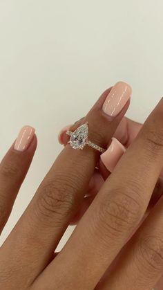 Pear Diamond Rings, Pear Shaped Diamond Ring, Pear Diamond Engagement Ring, Pear Shaped Engagement Rings, Engagement Ring Shapes, Dream Engagement Rings, Rose Gold Rings, Gemstone Engagement Rings, Diamond Shapes