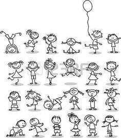 Cute cartoon kids stock vector (royalty free) 105699329 - Search Cute Happy Cartoon Kids Stock Images in HD and millions of royalty free stock photos, illust - Cartoon Drawings Of People, Cartoon People, Cartoon Images, Cartoon Kids, Drawing People, Cute Cartoon, Cartoon Picture, Drawing For Kids, Drawing Tips