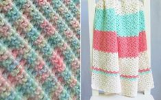 If you are in urgent need of a handmade blankie for a special little someone, these patterns for Easy-Peasy Baby Blankets will save the da Crochet Baby Blanket Beginner, Crochet Baby Blanket Free Pattern, Easy Baby Blanket, All Free Crochet, Baby Boy Blankets, Afghan Crochet Patterns, Baby Patterns, Boy Crochet, Crochet Mask