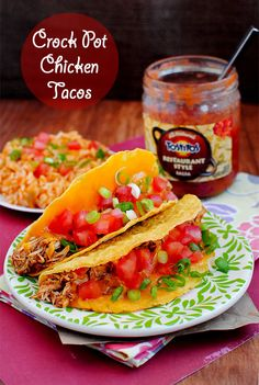 Crock Pot Chicken Tacos! Easy and Yummy!!
