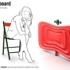 Innovative Bathboard -   How awesome is this!? This BATHTUB pops out like the measuring cups that can be folded up.