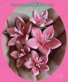 Filigrana con papel - Pink Flowers