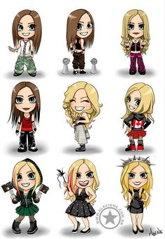 Avril lavigne drawings cute fan art (: