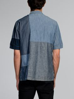 Brody Crazy Pattern Bowling Shirt Blue - Nudie Jeans Online Shop