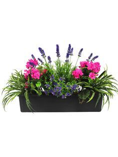 Buy Best Selling Artificial Mixed Flower Window Box At Blooming Artificial.  Bright Vibrant Colours Make This Window Box A Winner.