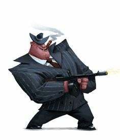 The Character Design Challenge! Character Poses, Character Design References, Character Drawing, Character Illustration, Character Concept, Concept Art, Mafia, Gangster Games, Gangster Party