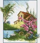 ДОМИКИ, ДВОРИКИ Cross Stitch Patterns, Cabin, House Styles, Flow, Decor, Cross Stitch, Cross Stitch Landscape, Art, Little Cottages