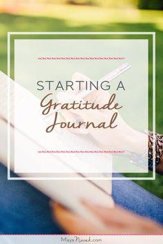 Starting A Gratitude Journal