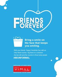 Make your friends feel all the more special by making them win a Only Vimal voucher! Tag them in a comment! #BeUnformal