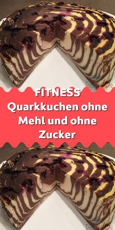 FITNESS quark cake without flour and without sugar-FITNESS Quarkkuchen ohne Mehl und ohne Zucker Great looking quark cake without flour and sugar. Simply put fruit on top and a delicious dessert is in the world. Köstliche Desserts, Healthy Dessert Recipes, Diet Recipes, Cake Recipes, Dessert Food, Keto Snacks, Healthy Foods, Drink Tumblr, Smoothie Bol